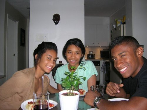 My two sisters, Kaya and Alicia, and me